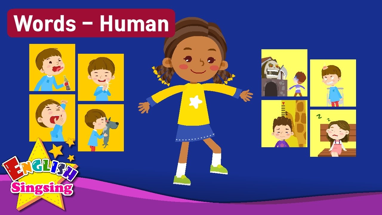 Action clipart human action. Kids vocabulary theme verbs