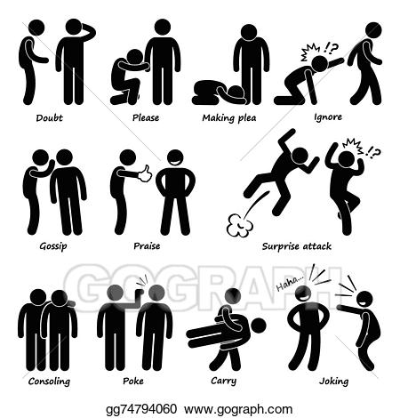 Eps vector man emotion. Action clipart human action