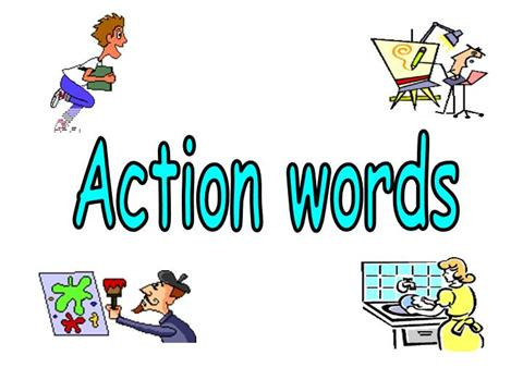 Action clipart kind action. Verbs words serpto carpentersdaughter