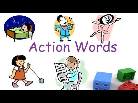 Action clipart kind action. Words and verbs for