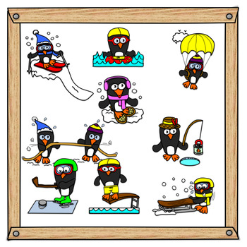 Action clipart kind action. Penguins in by teach