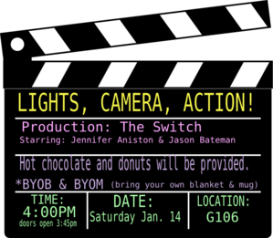 Action clipart lights camera action. Clip art at clker