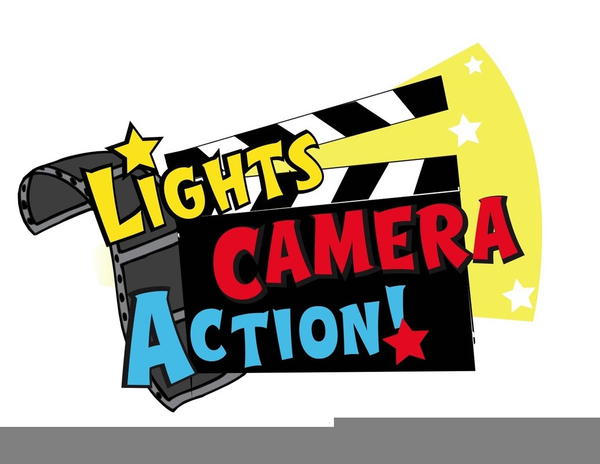 Free images at clker. Action clipart lights camera action