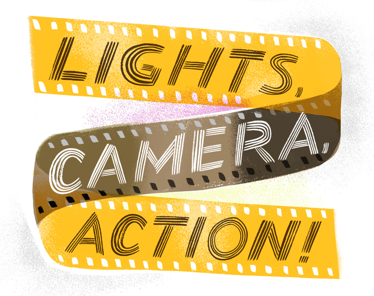Action clipart lights camera action. Sarah tanat jones actionwebjpg