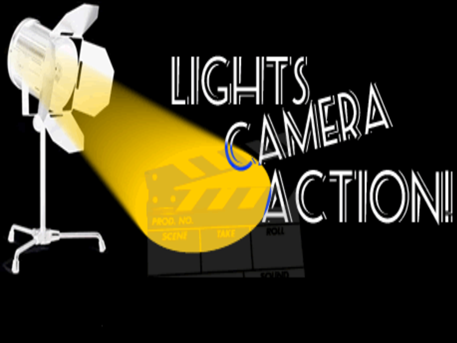 Action clipart lights camera action. Region s top track