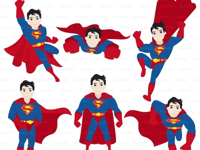 Superman digital cliparts meylah. Action clipart person