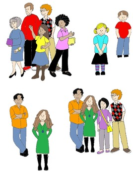 Action clipart person. Kids in pronouns clip