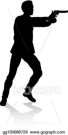 Vector illustration movie shoot. Action clipart person
