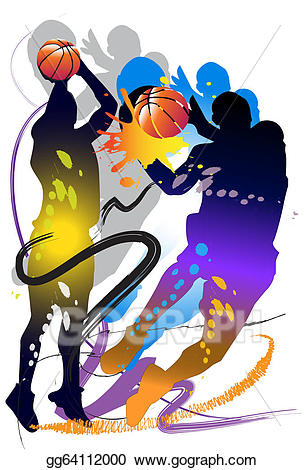 Drawing man basketball gg. Action clipart person