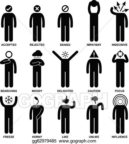 Action clipart person. Vector illustration people man