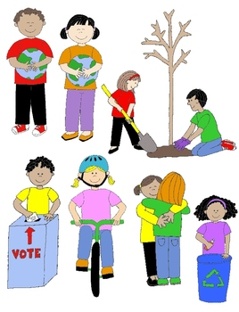 Kids in citizenship and. Action clipart person