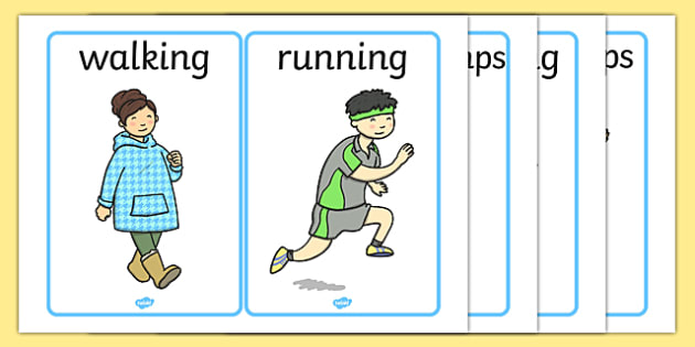 Pe word and picture. Action clipart physical activity