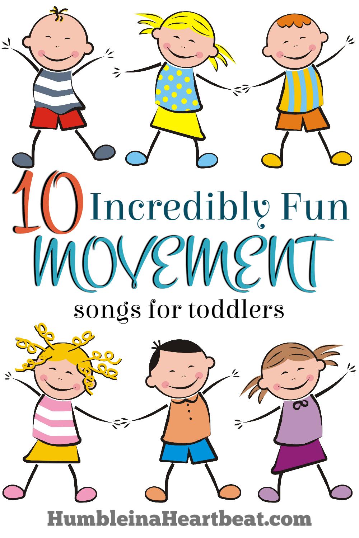 fun movement songs. Action clipart preschooler