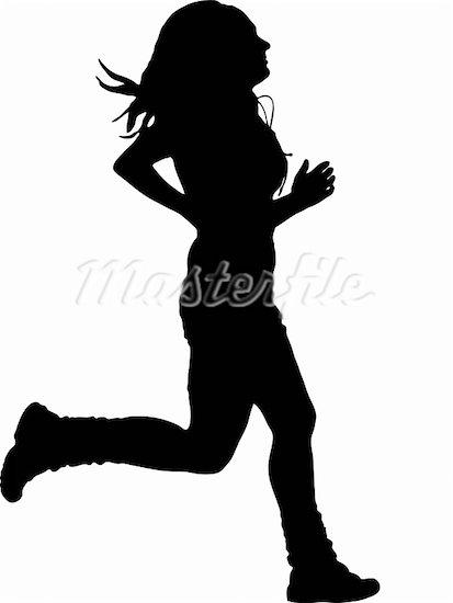 Girl running panda free. Action clipart run