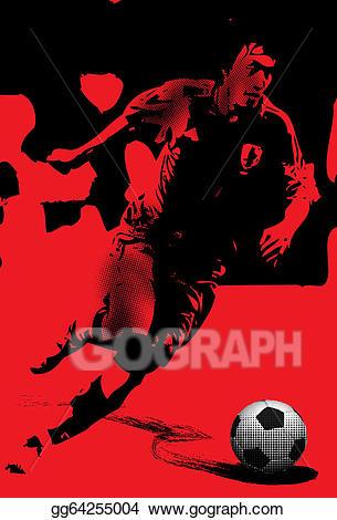 Action clipart run. Stock illustration art football