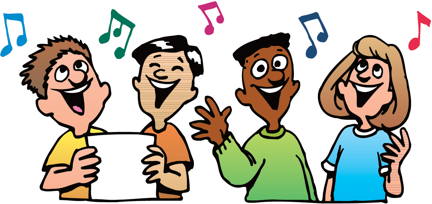 Action clipart sang. Singing togethers