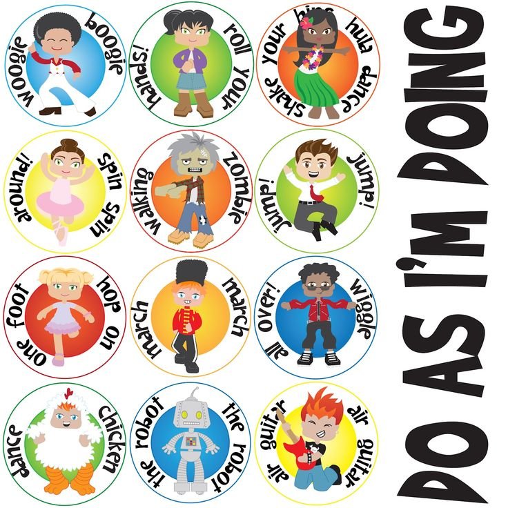 best primary music. Action clipart sang