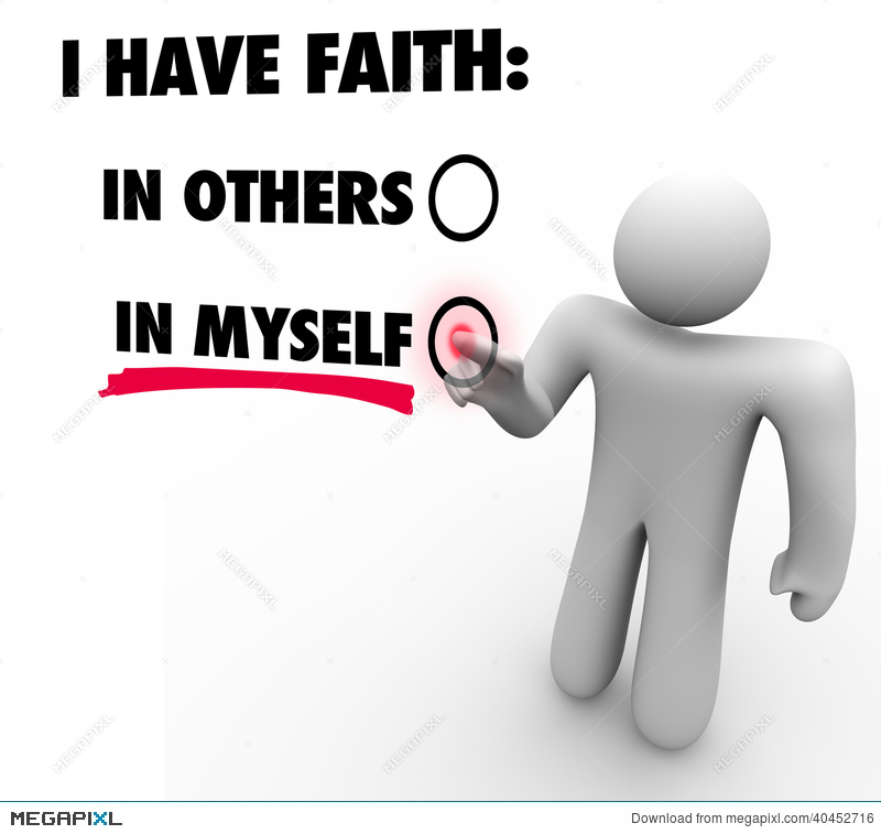 I have faith in. Action clipart self reliance