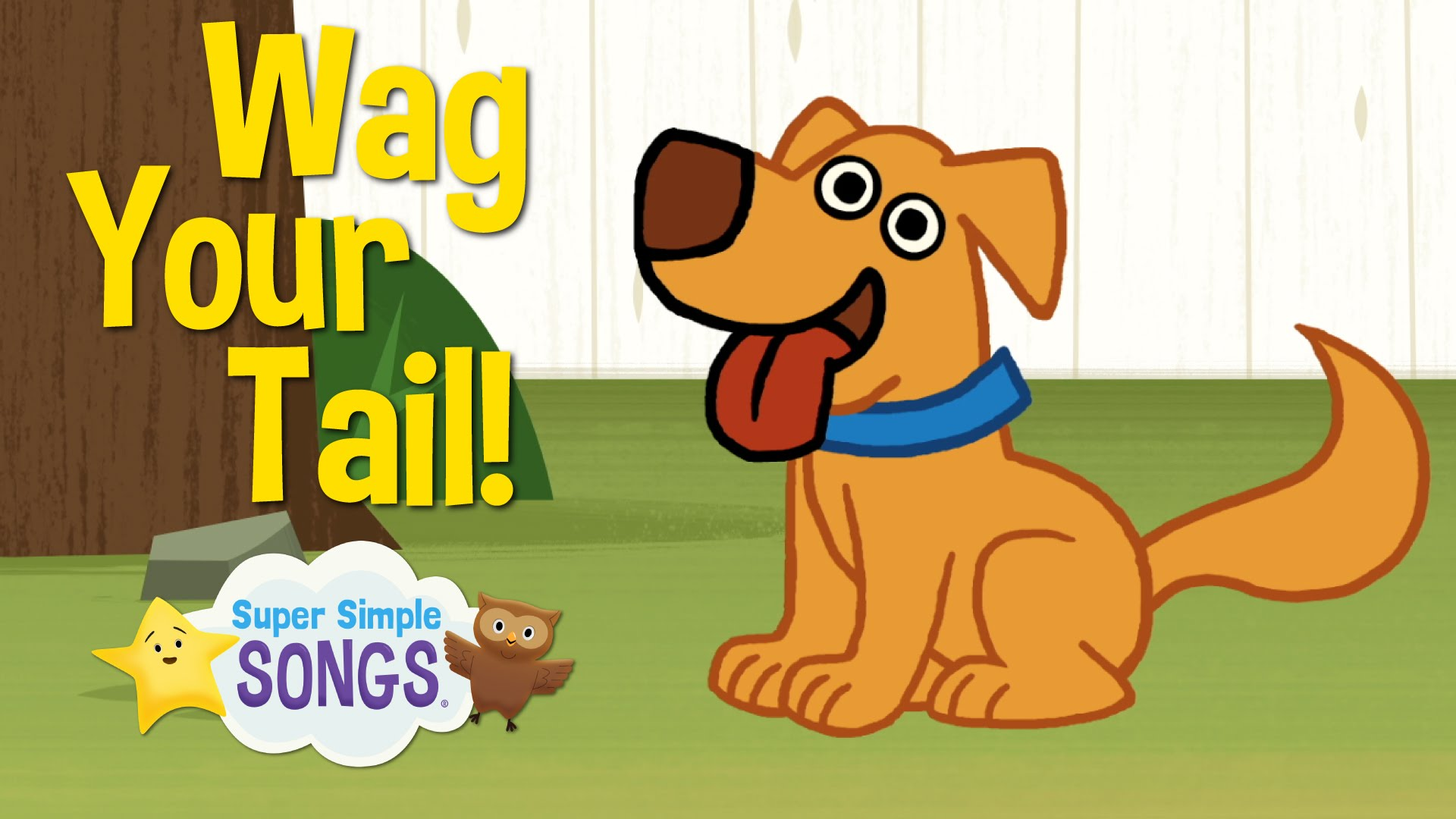 Wag your tail animal. Action clipart simple