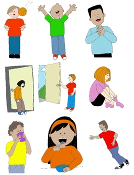 Action clipart skill. Kids clip art teaching