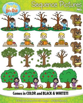 Action clipart skill. Fall sequence pictures zip