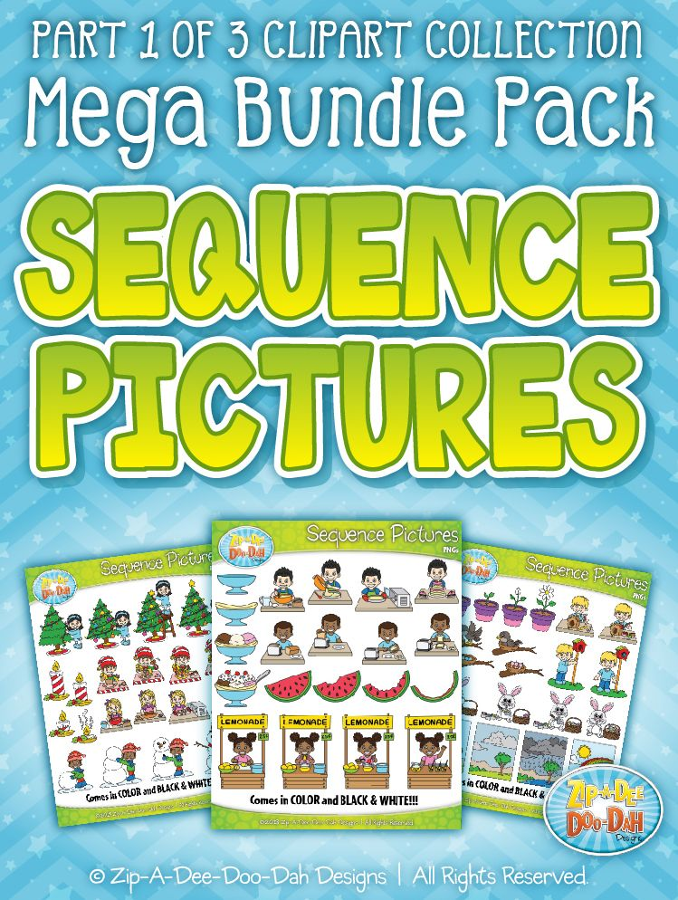 Sequence pictures mega bundle. Action clipart skill
