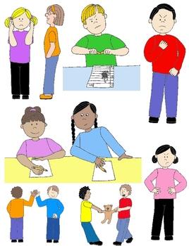 Action clipart skill. Kids in social skills