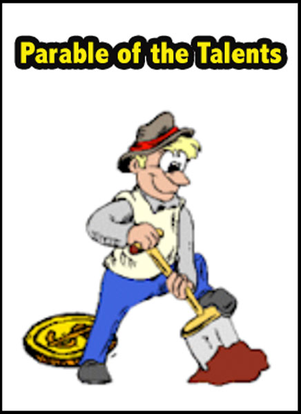 Action clipart skit. Parable of the talents