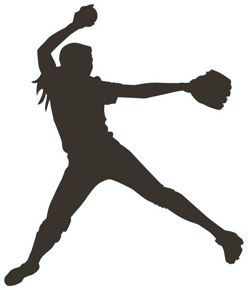 Girl pitcher clipartfest silhouette. Black clipart softball