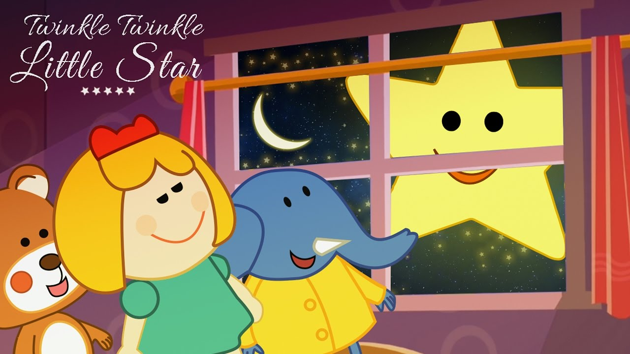 Twinkle little star rhyming. Action clipart story