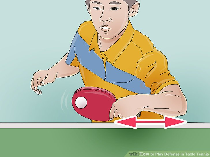 How to play defense. Action clipart table tennis