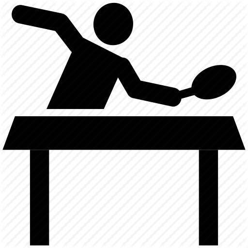 Action clipart table tennis. Human by vectors market