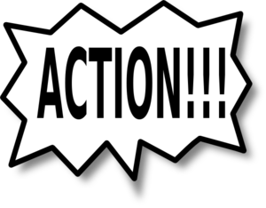 News from the wild. Action clipart take action