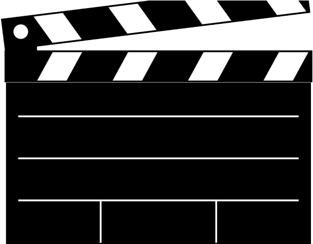 Hd clapperboard scroll movie. Action clipart transparent