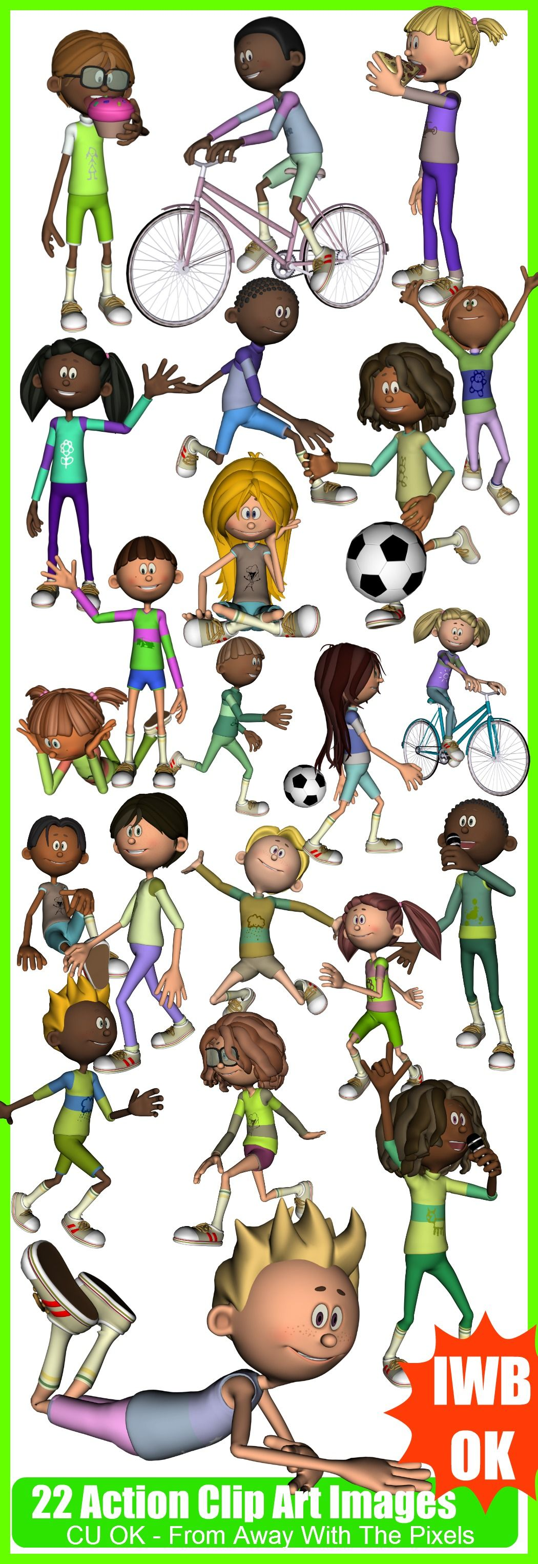 Verbs clip art for. Action clipart verb