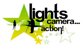 Lights camera secrets to. Action clipart video