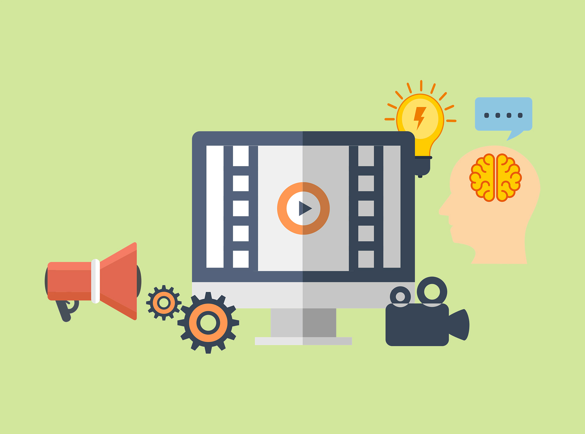 Ecreators lms hosting e. Action clipart video production