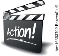 Action clipart video production.  posters and art