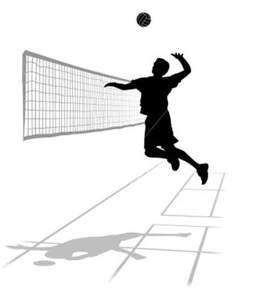 Home. Action clipart volleyball