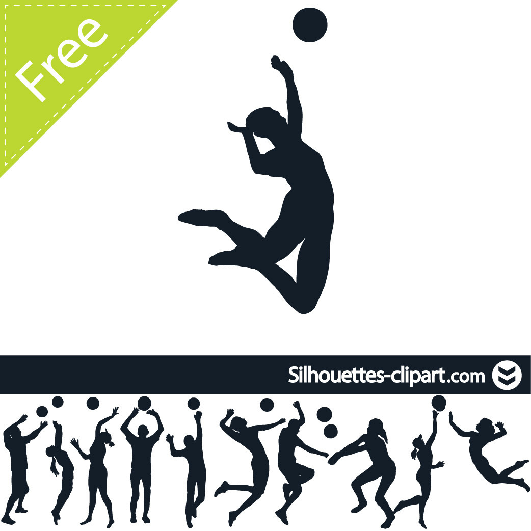 Volleyball clipart action. Players in station