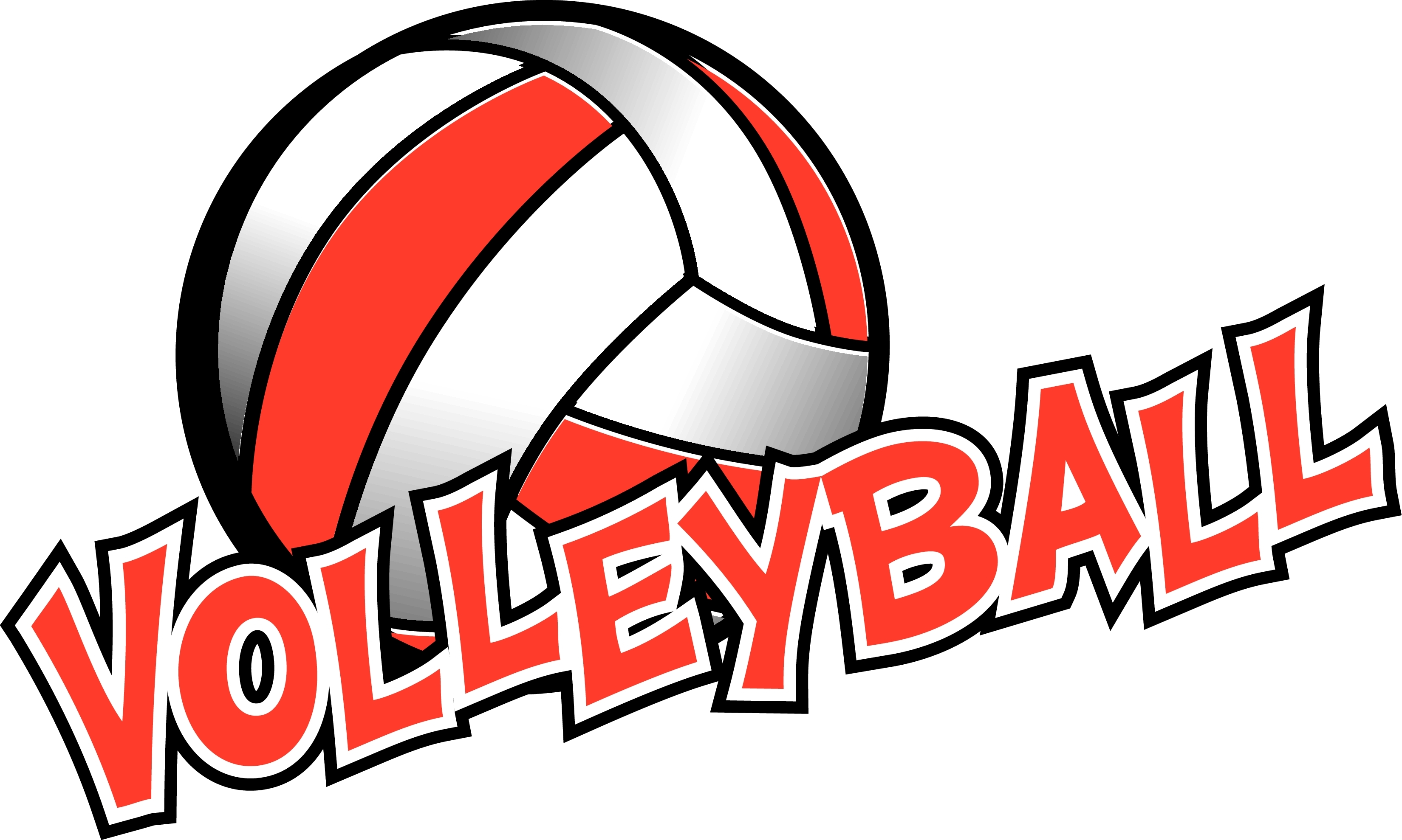 Red and white hobbs. Clipart volleyball high school volleyball