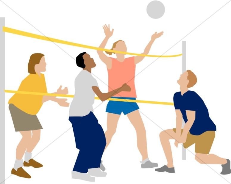 Children in youth program. Clipart volleyball volleyball game