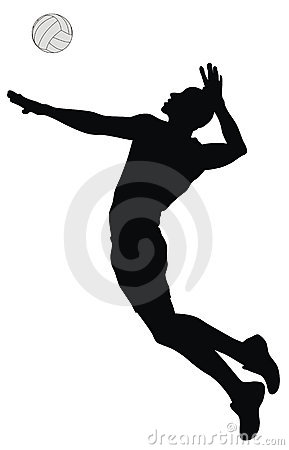 Action clipart volleyball.  collection of players