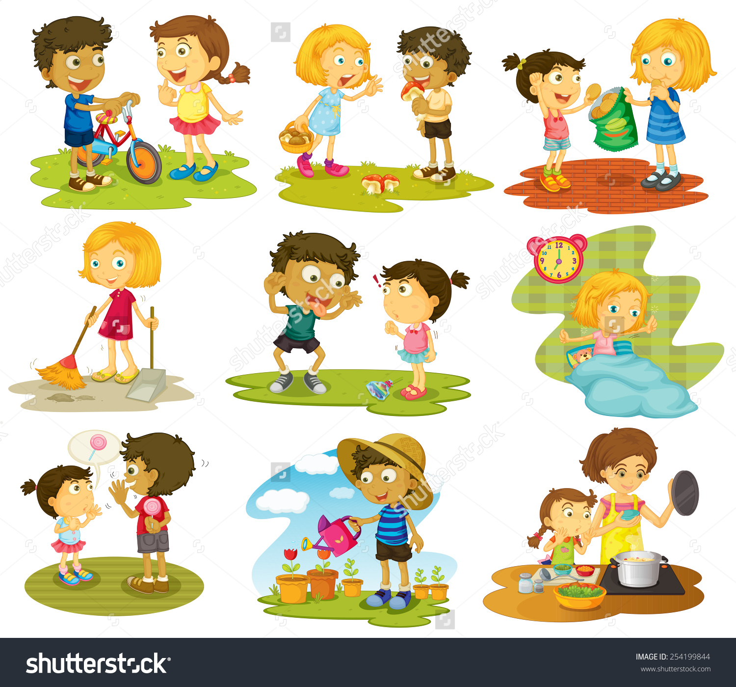 Free outdoor activities cliparts. Chores clipart household activity