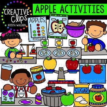 Apple creative clips tpt. Activities clipart activites