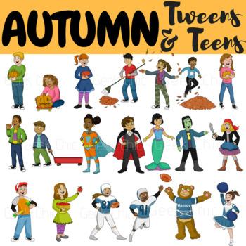 Autumn fall tweens teens. Activities clipart activites