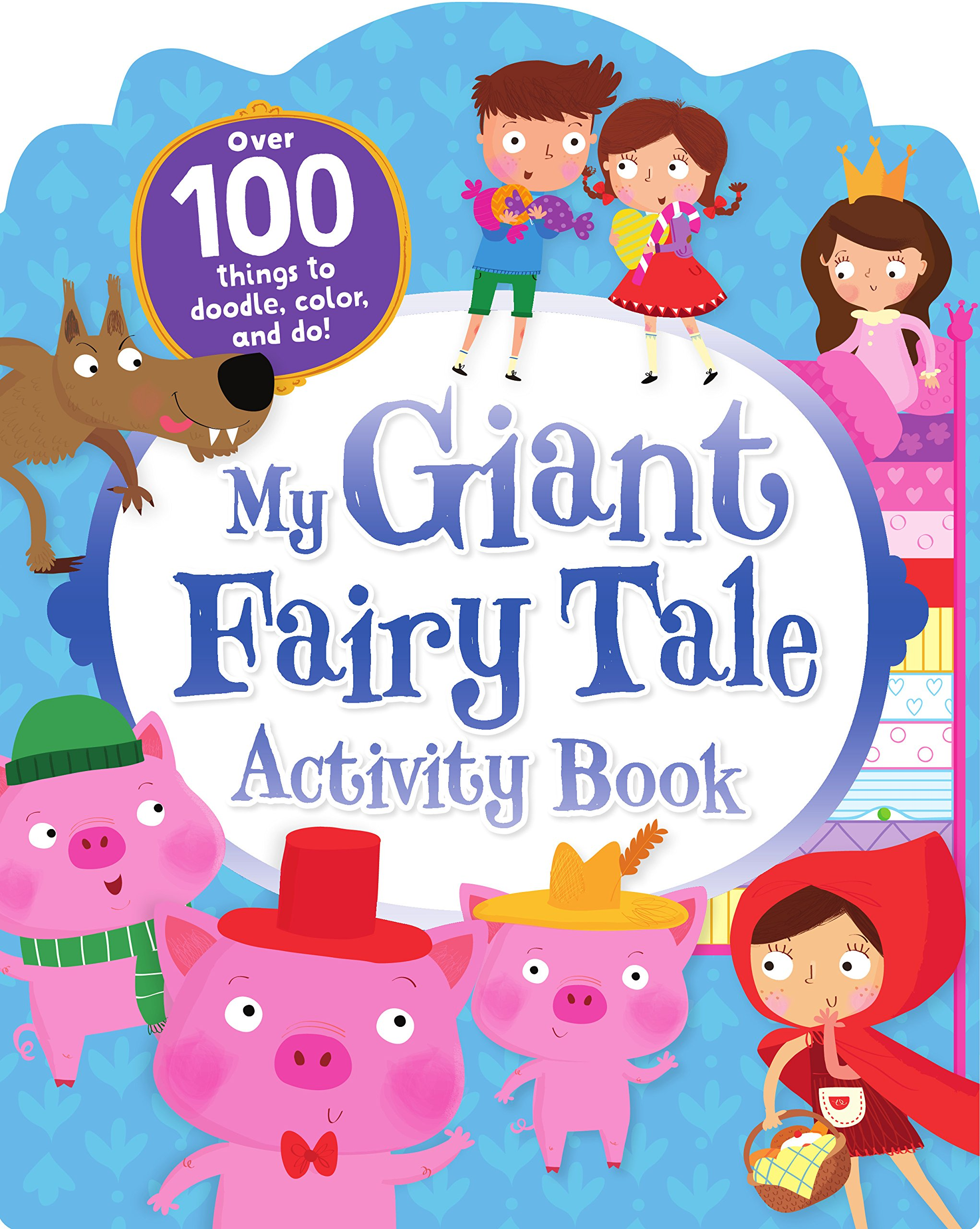 My giant fairy tale. Activities clipart activity book