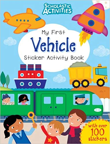 Activities clipart activity book. My first vehicle sticker