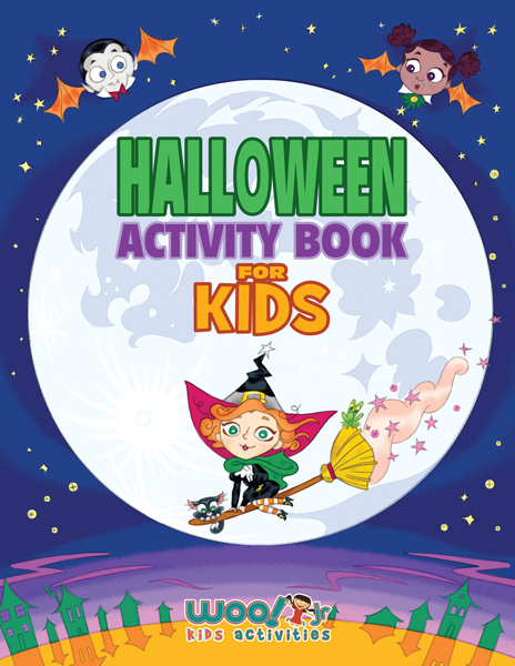 Halloween for kids with. Activities clipart activity book