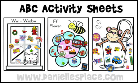 Activities clipart activity sheet. Abc ready for school